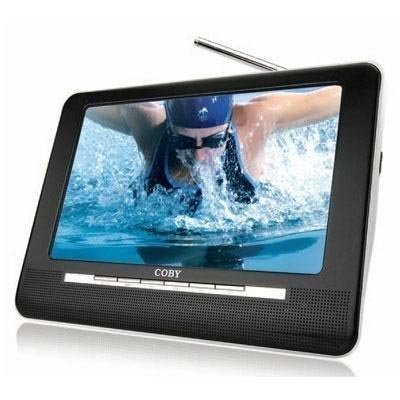 Coby TFTV1091 10-Inch Portable Widescreen LCD TV with ATSC/NTSC Tuner and Integrated Telescopic Antenna (Black)