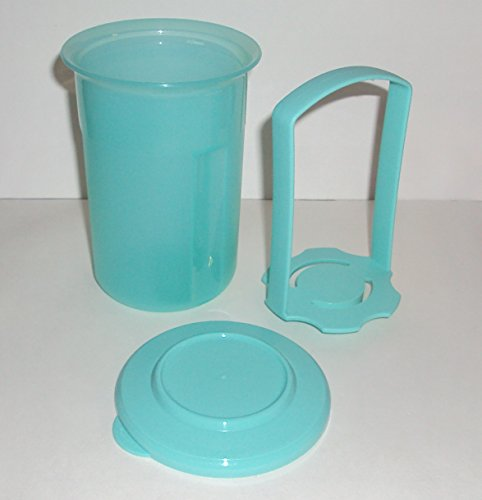 Tupperware SMALL 2 Cup Pick a Deli Round Pickle Keeper, Turquoise (2 Cup Deli compare prices)