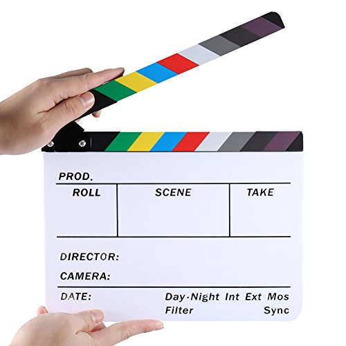 Neewer® Acrylic Plastic Dry Erase Director's Film Clapboard