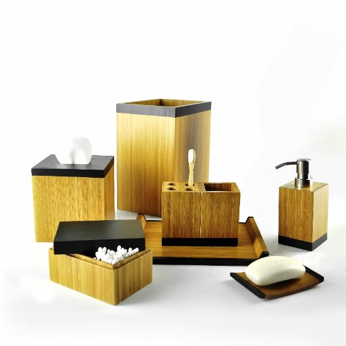 Bath Accessories Set of Tasman Series 4540 in Bamboo