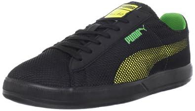 Puma Men's Bolt Lite Low Shoe,Black/Buttercup/Classic Green,4 D US