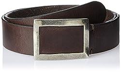 Parx Men's Leather Belt (8903575420438_95_Dark Brown)