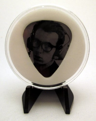 """Elvis Costello """"Headphones"""" Guitar Pick With Made In Usa Display Case & Easel"""