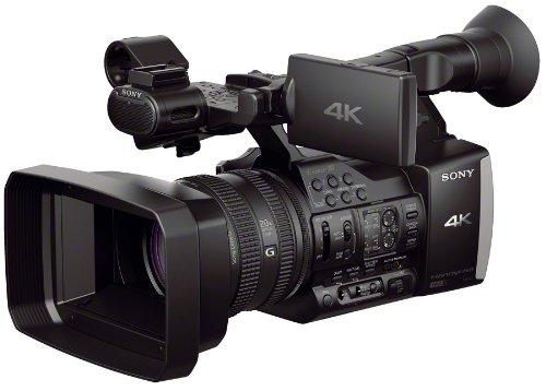 Sony FDR-AX1EB 4K Ultra-HD-Camcorder (G-Objektiv mit 20x Zoom, 8,9 cm (3,5 Zoll) LCD-Display, Bildstabilisator, elektronischer Sucher, 2XQD-Speicherkarten-Slots 3 ND Filter Zebra) schwarz