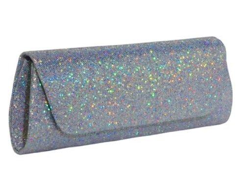 J. Furmani Glitter Evening Clutch (Silver)