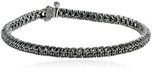 Sterling Silver and Black Diamond Tennis Bracelet (1 cttw), 7