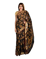 Asmara Collection Women's Cotton Silk Saree (SARARH00005, Multicolor)