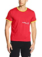 Milo Camiseta Manga Corta Timma Unisex (Rojo / Amarillo)