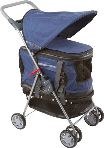 Blue Pet Stroller, Carrier And Car Seat All-In-One front-172113