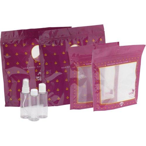 Showoffs Tsa 3-1-1 Compliant Travel Bags - Be Purple (Be Purple)