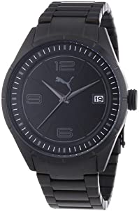Puma Time Herren-Armbanduhr XL Driver 3HD Metal- L Black Analog Quarz Edelstahl PU102611005