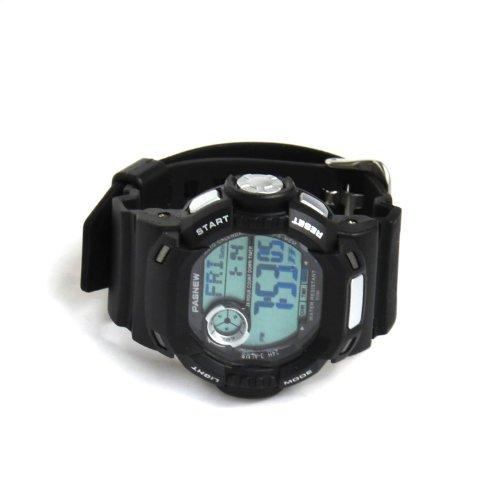 Pasnew Pse-319-N3 Waterproof Dual Time Students Sport Watch (Black)