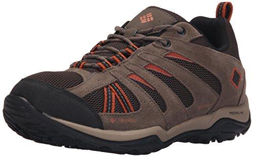 columbia-north-plains-drifter-mens-waterproof-shoes-multicoloured-cordovan-sanguine-7-uk
