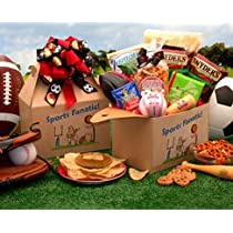 The Sports Fanatic Food and Snacks Care Package Gift Box - A Great Gift Basket Idea for Him!