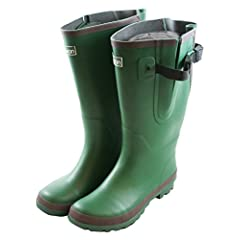 Extra Wide Calf Green Rain Boots - up to 20 inch Calf