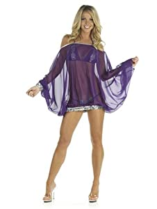 Purple Chiffon Sequin Cover Up - MEDIUM