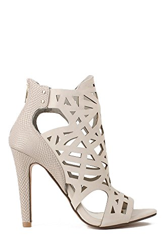 Paprika Prefix-S Perforated Stiletto Sandal - Dove Grey Nub