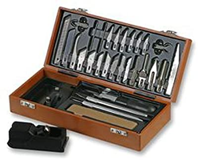 Duratool D00298 35 Piece Hobby Knife Set