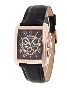 Haas & Cie - MFH416LBA - Rasmus - Montre Homme - Quartz Analogique - Chronographe - Bracelet en Cuir Noir