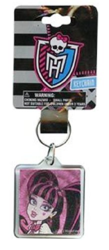 Monster High Draculaura Keychain- Larger Lucite Foil Keychain