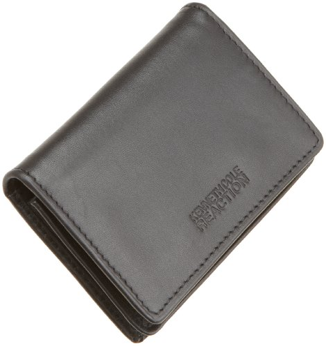 Leather business card holder great price kenneth cole reaction kenneth cole reaction mens business card caseblackone size best reheart Choice Image