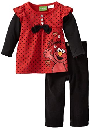 Amazon Sesame Street Baby Girls Infant Polka Dot Elmo