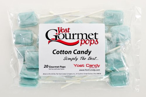 Yost Gourmet Pops, 20 Count Bag - Cotton Candy front-576927