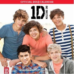 One Direction 2013 Square 12x12 Wall Calendar A Free Stretchie Collectors Bracelet By Confetti from BT Pub.