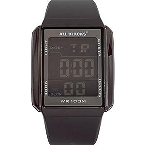 All Blacks - 680033 - Montre Homme - Quartz Digital - Cadran Noir - Bracelet Silicone Noir