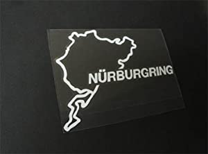 1 Ijdmtoy Euro Nurburgring Race Track Import Decal For Audi Bmw Volkswagen Porsche Mercedes-benz Mini Car Die-cut Vinyl Sticker by iJDMTOY Auto Accessories