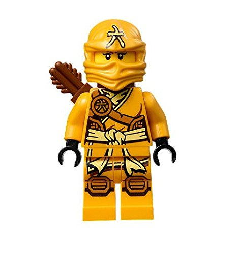 LEGO Ninjago Minifigure - Skylor Female Orange - Gold Ninja with Crossbow and Quiver (70746) - 1