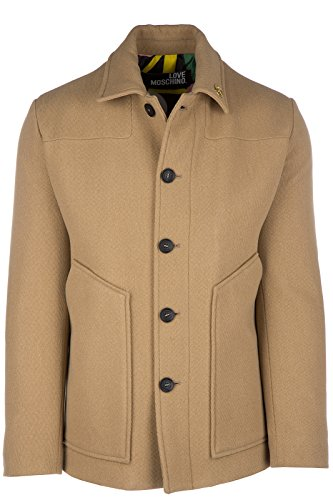 Love Moschino cappotto uomo in lana originale beige EU 48 (UK 38) M J 179 80 T 8615 E3