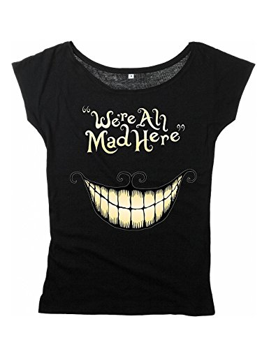 Alice In Wonderland Mad Mouth Maglia donna nero M