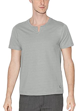 G by GUESS Men's Element Slit-Neck Tee, FROST GREY (XS)