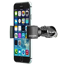 Ppyple Bike-Wrap5 Bike Mount Holder Cradle for Iphone 6, 6 Plus, 5S, 5C, 5, Galaxy S6, S5, S4, LG G4, G3, G2, Motorola, HTC and More (Black)