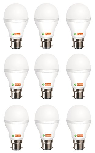 5W LED Bulb (Cool White, Pack of 9)