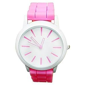 Moonar®De Moda Simple dulce estilo azúcar Color goma silicona Jelly hielo hueco fuera puntero reloj reloj de pulsera reloj de pulsera mujeres Lady chica vestido reloj de pulsera marca Moonar