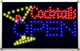 led134-OPEN-Cocktails-Bar-Pub-Club-Classic-LED-Neon-Light-Sign