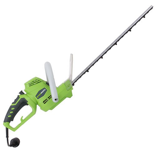 "Review Of GreenWorks 22122 4 Amp 22"" Corded Rotating Hedger"