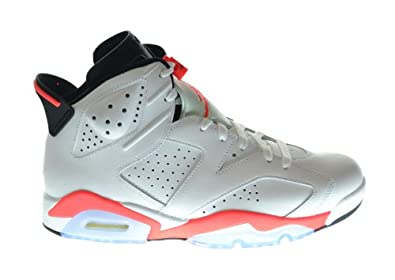 Buy Air Jordan 6 Retro Mens Basketball Shoes White Infrared-Black 384664-123 by Jordan