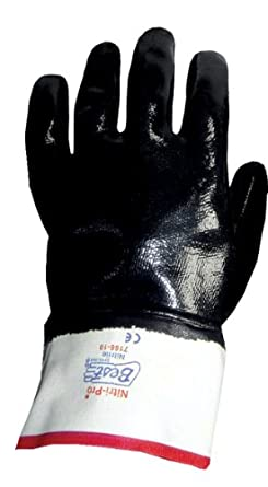 Showa Best 7166 Nitri-Pro Fully-Coated Nitrile Glove, Smooth Grip, Cotton Jersey Liner, Reinforced Safety Cuff