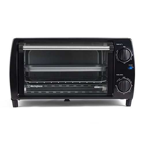 Westinghouse WTO1010B 4 Slice Countertop Toaster Oven, Black (Toaster Oven Broiler Grill compare prices)