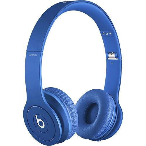 Beats Solo Hd Monochromatic Color Headphones Drenched In Blue Bundle With Beats Cable With Microphone And Custom Designed Zorro Sounds Cleaning Cloth