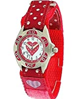 Ravel Girls Polka Dot Velcro Quartz Watch with White Dial Analogue Display and Multicolour PU Strap R1507.24