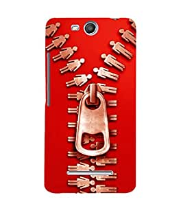 printtech Chain Cool Back Case Cover for Micromax Bolt Q338