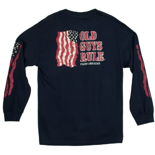 Old Guys Rule Proud American L/S