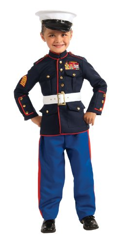 Young Heroes Marine Dress Blues Costume, Small front-1064655