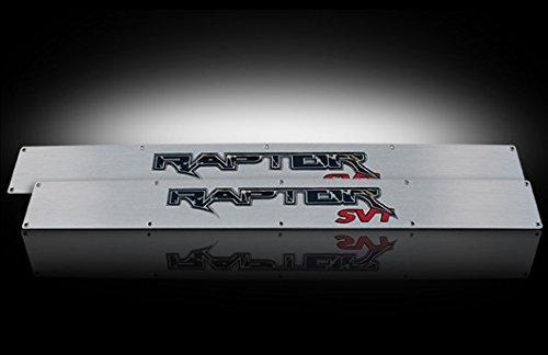 2009-2014 Ford F-150 & Svt Raptor Brushed Aluminum Door Sill Step Plates W/ Red Illumination
