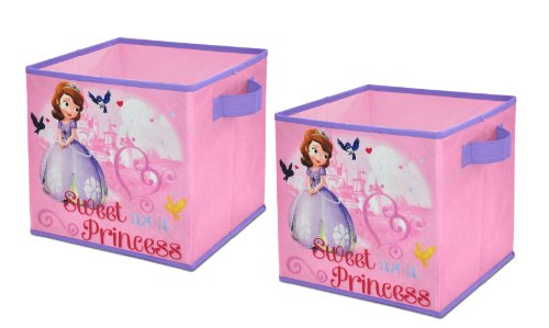 Disney  Sofia the First Storage Cubes, Set of 2, 10-Inch