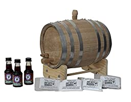 3-Liter American White Oak Barrel Unfinished with Bright Steel Bands Scotch Whisky Kit with Cleaning Kit